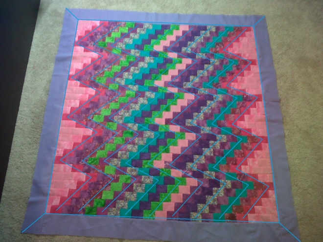 Miss A's Quilt with design