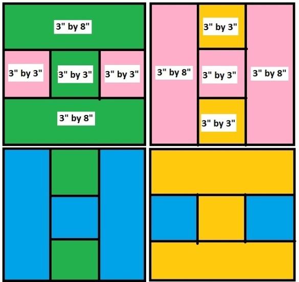 Puzzle quilt patter