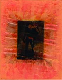 Finished Canvas 4 - Orange Embroidery