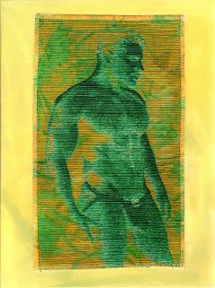 Yellow and Green Silk